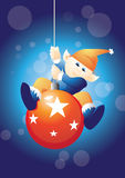 Swinging elf Royalty Free Stock Images