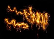 Swinging fireworks Stock Photography