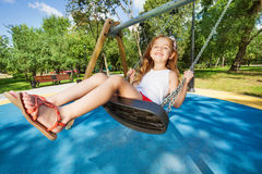 Swinging is so fun Royalty Free Stock Photos