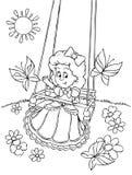 Swinging girl Royalty Free Stock Images