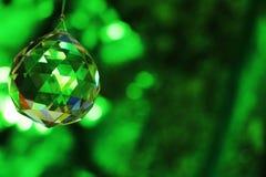 Swinging glass crystal Royalty Free Stock Image