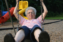 Swinging Grandmother 11 Stock Images