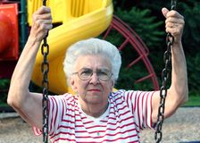Swinging Grandmother 8 Royalty Free Stock Image
