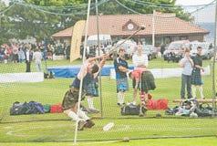 Swinging the hammer at Nairn. Royalty Free Stock Photos