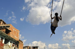 Swinging in kathmandu Royalty Free Stock Photos