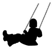 Swinging kid Royalty Free Stock Photography