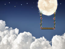 Swinging on the moon royalty free stock photos