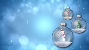 Swinging Ornaments on Blue Loop stock footage