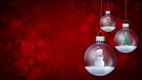 Swinging Ornaments on Red Loop stock video footage