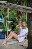 Swinging in paradise Royalty Free Stock Images