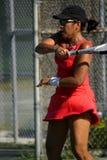 Swinging racquet Stock Image