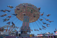 Swinging at the San Diego Fair Royalty Free Stock Image