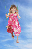 Swinging in the sky Royalty Free Stock Image