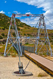Swinging Suspension Bridge Thermopolis Stock Image