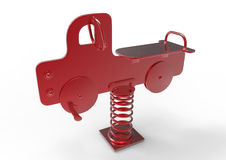 Swinging toy truck Stock Photography