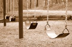 Swings stock photography
