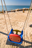 Swings on the beach Royalty Free Stock Images