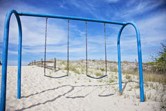 Swings on beach Royalty Free Stock Photos