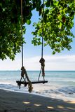Swings on a beach Royalty Free Stock Photo