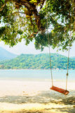 Swings on the beach in Thailand Royalty Free Stock Photos