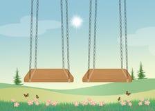 Swings for children Stock Image