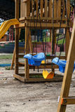 Swings in a children park Royalty Free Stock Photos
