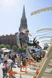 Swings at the flea market Auer Dult in Munich Stock Image