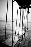 Swings by the ocean Royalty Free Stock Images