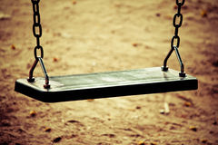 Swings in the park. Royalty Free Stock Image
