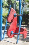 Swings at the playground Royalty Free Stock Photos