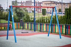 Swings. In playground located in the north of Spain, Asturias Stock Photography