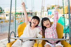 On swings Royalty Free Stock Photos