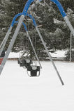 Swingset in cold2 fotografia stock