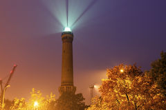 Swinoujscie lighthouse at evening Stock Image