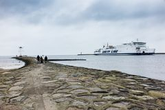 Swinoujscie, Poland, November 10, 2017: Sea Community when enter royalty free stock image