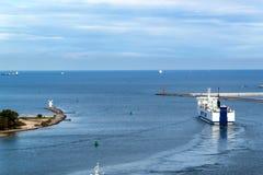 SWINOUJSCIE,  POLAND, September 20 - 2017: Unity Line operates a year-round ferry service between the Polish port of Swinoujscie a Stock Photos