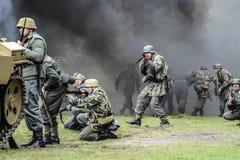 Swinoujscie, Polen, 15 September, 2012: Historische reconstructi Royalty-vrije Stock Afbeelding