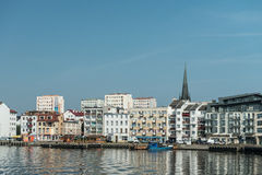Swinoujscie - view from port. Image was taken on July 2013 Stock Photos