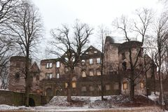 Swiny chateau i Polen Fotografering för Bildbyråer