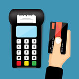 Swipe Credit Cards Stock Images