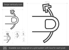 Swipe vertically line icon. Royalty Free Stock Image
