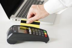 Swiping Credit Card Stock Photo