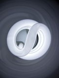 Swirl 1. Close up of fluorescent energy saving bulb Stock Images