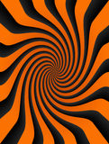 Swirl. Orange and black striped background. abstract illustration Royalty Free Stock Image