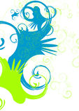 Swirl. Abstract vector background, green and blue swirls Royalty Free Stock Photos