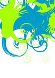 Swirl. Abstract vector background, green and blue swirls Royalty Free Stock Images