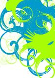 Swirl. Abstract vector background, green and blue swirls Royalty Free Stock Photo