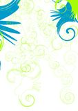 Swirl. Abstract vector background, green and blue swirls Royalty Free Stock Image