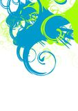 Swirl. Abstract vector background, green and blue swirls Stock Image