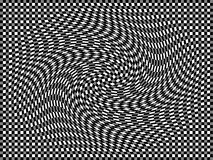 Swirl. On a background of black white and grey checkers royalty free illustration